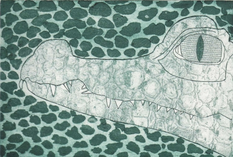 'Crocodile' print by Jack Haslam