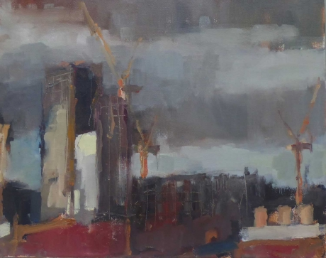 'Nine Elms from Stockwell II' oil painting by Rebecca Hathaway