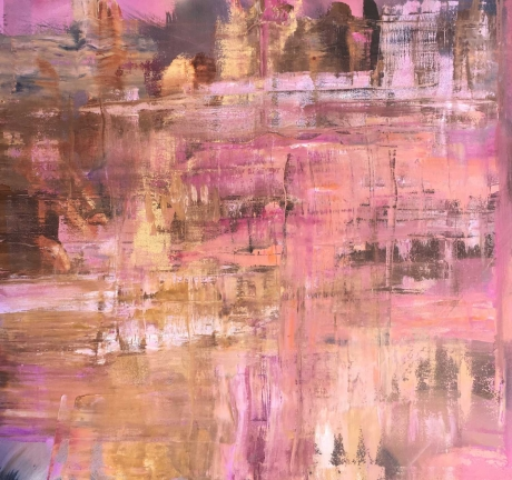 'Passage' abstract oil painting by Peggy Cozzi
