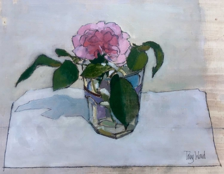 'Rose in a Glass' oil painting by Toby Ward