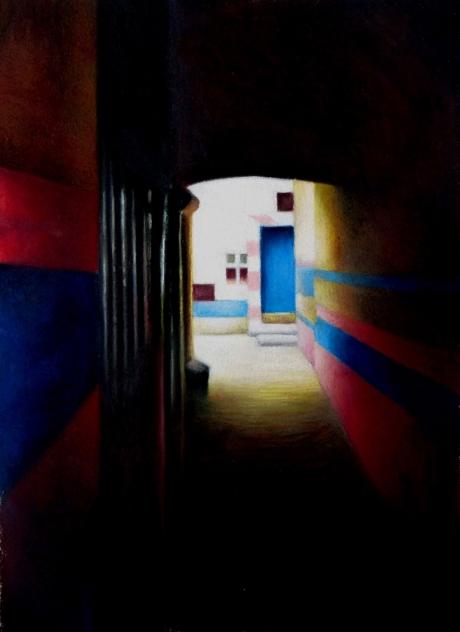 Pink and Blue Passage by Christine Watson