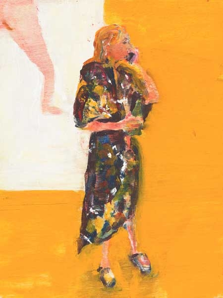 'Gown' figurative oil painting by Michael Bartlett