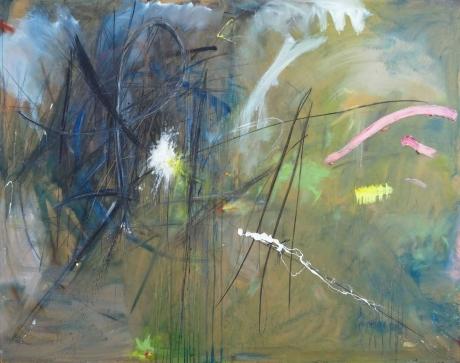 'Painting 2 (Isle of Skye, Change of Weather)' mixed media work by Jonathan Peter Smith