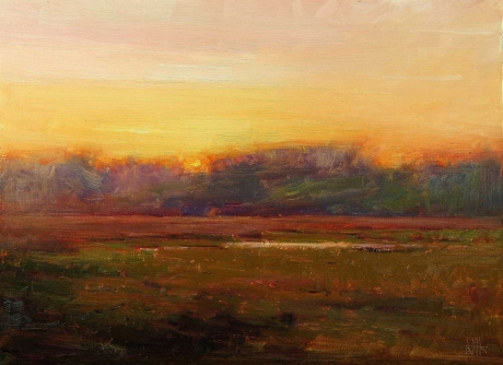 'On Return from the Home of Henry James 1, Rye' oil painting by Kenny McKendry