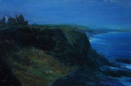 'Twilight, Dunluce Castle' oil painting by Kenny McKendry