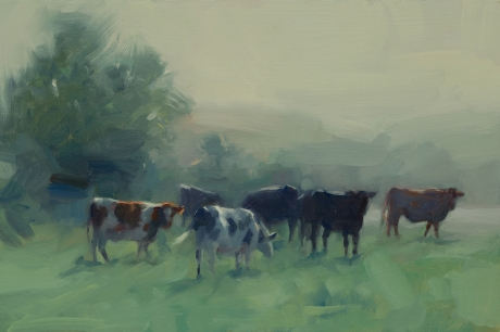 Cattle in the Morning Mist by Frances Bell