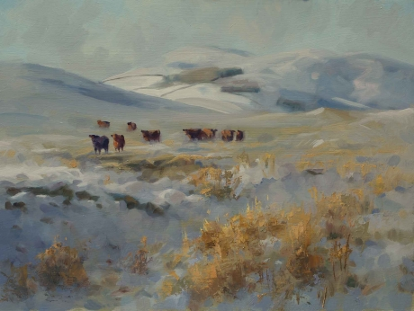 Cows in the Snow by Frances Bell Buy Art