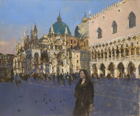 'San Marco (from the Piazetta)' oil painting by David Sawyer