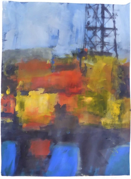 """""""Brent Delta III"""" Acrylic on Paper by Rebecca Hathaway"""