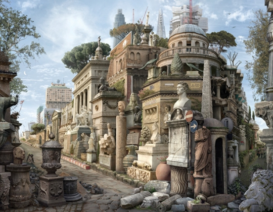 Emily Allchurch, Sic Transit Gloria Mundi (after Piranesi) (detail)