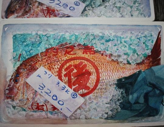 John Batty, Red Bream – Tokyo Fish (detail)