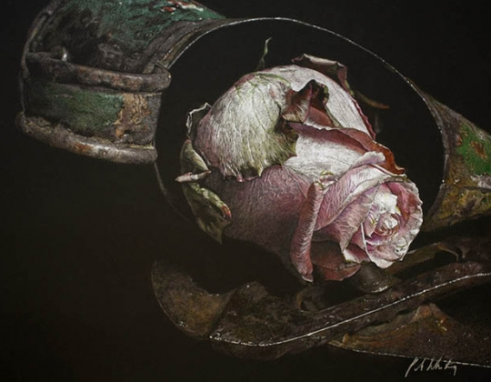 Patsy Whiting SWA, Lost Rose (detail)
