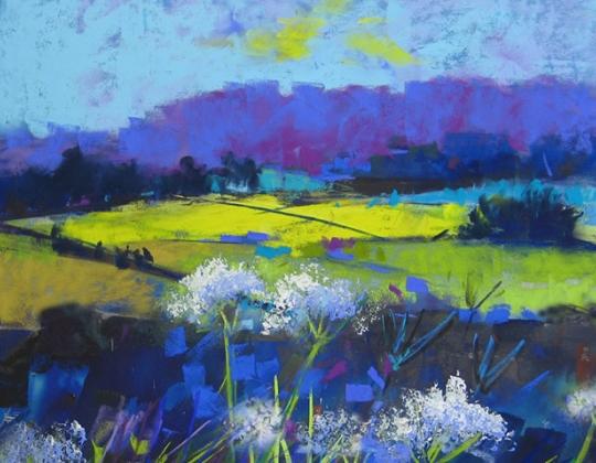 Soraya French, Yellow Fields (detail)