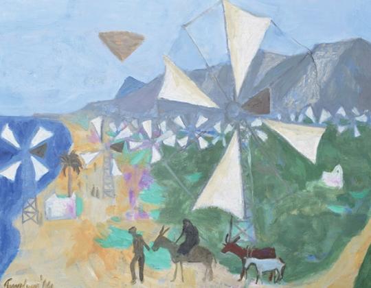Manning Fine Art - Trevelyan, Cretan Windmills @Connect