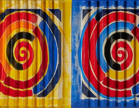 Square SIR TERRY FROST R.A. (BRITISH 1915-2003) SPRING SPIRALS, 1997 - LYON & TURNBULL MODERN MADE.jpg